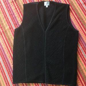 Armani Collezioni Black Vest/ Top
